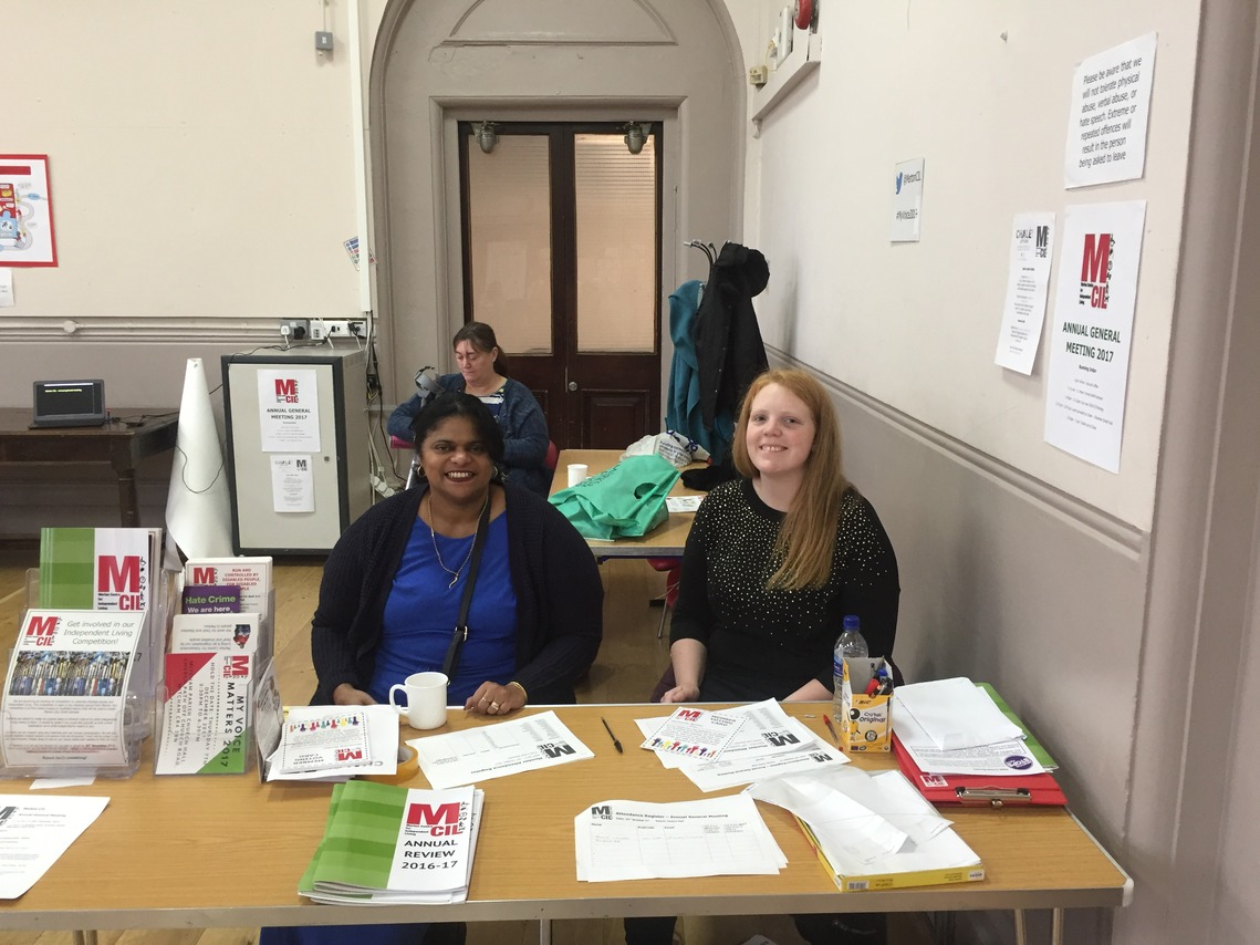 Raheema and Rhianne on Reception