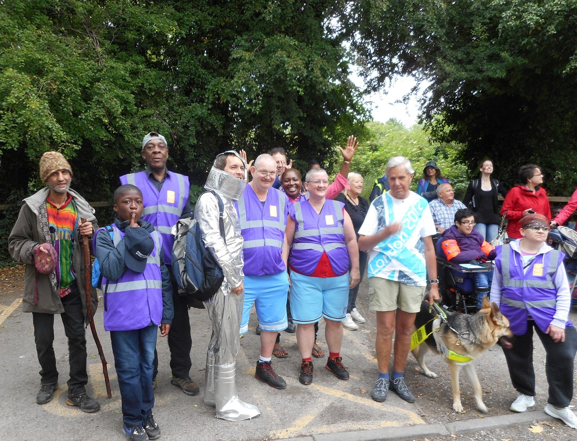 Members and Supporters at Sponsored Walk in 2015