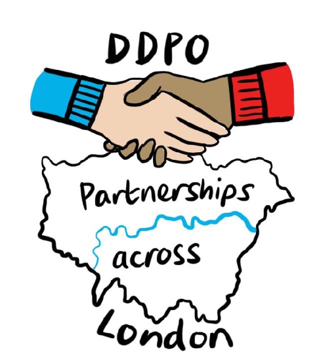 We work with DDPOs across London to increase disability hate crime support and raise awareness
